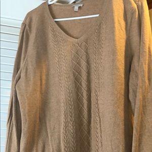EUC Talbots tan sweater